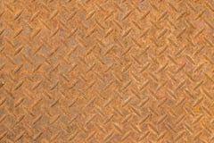 Κλείστε επάνω του σκουριασμένου υποβάθρου σύστασης πατωμάτων χάλυβα Στοκ εικόνα με δικαίωμα ελεύθερης χρήσης