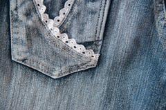 Κλείστε επάνω του τζιν παντελόνι Στοκ Φωτογραφία