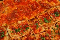 Κλείστε επάνω του τηγανίσματος beancurd Στοκ εικόνες με δικαίωμα ελεύθερης χρήσης