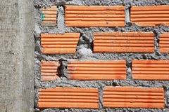 Κλείστε επάνω του τούβλινου τοίχου Στοκ Εικόνα