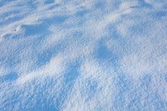 Κλείστε επάνω του φρέσκου χιονιού στον τομέα Στοκ εικόνες με δικαίωμα ελεύθερης χρήσης