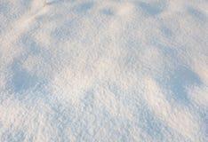 Κλείστε επάνω του φρέσκου χιονιού στον τομέα Στοκ εικόνα με δικαίωμα ελεύθερης χρήσης