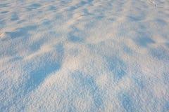 Κλείστε επάνω του φρέσκου χιονιού στον τομέα Στοκ φωτογραφίες με δικαίωμα ελεύθερης χρήσης