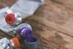 Κλείστε επάνω του χρώματος tempera Στοκ φωτογραφία με δικαίωμα ελεύθερης χρήσης