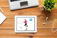 Κλείστε επάνω του PC ταμπλετών με την ικανότητα app στην οθόνη Στοκ φωτογραφίες με δικαίωμα ελεύθερης χρήσης