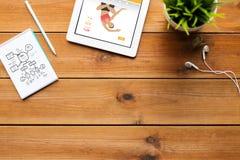 Κλείστε επάνω του PC ταμπλετών με την ικανότητα app στον πίνακα Στοκ φωτογραφία με δικαίωμα ελεύθερης χρήσης