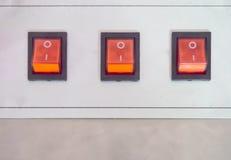 Κλείστε επάνω το διακόπτη μηχανών, on-off Στοκ εικόνα με δικαίωμα ελεύθερης χρήσης