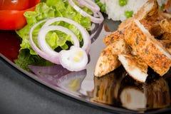 Κλείστε επάνω το κρέας κοτόπουλου Στοκ φωτογραφία με δικαίωμα ελεύθερης χρήσης