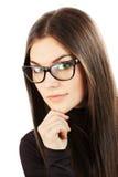 Κλείστε επάνω το πορτρέτο μιας νέας όμορφης επιχειρησιακής γυναίκας Στοκ φωτογραφίες με δικαίωμα ελεύθερης χρήσης