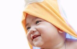 Κλείστε επάνω το πορτρέτο του προσώπου μωρών Στοκ εικόνες με δικαίωμα ελεύθερης χρήσης