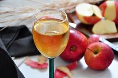 Κλείστε επάνω το ποτήρι του κόκκινου χυμού της Apple Στοκ Εικόνες