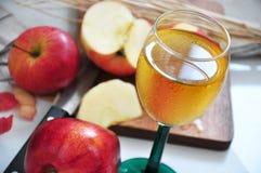 Κλείστε επάνω το ποτήρι του φρέσκου χυμού της Apple Στοκ εικόνες με δικαίωμα ελεύθερης χρήσης