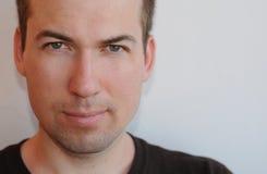 κλείστε επάνω το πρόσωπο του 30χρονου ατόμου Στοκ Φωτογραφία