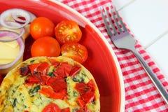 Κλείστε επάνω το υγιές μεσημεριανό γεύμα Πίτα, τυρί, ντομάτες, κόκκινο κρεμμύδι Στοκ εικόνες με δικαίωμα ελεύθερης χρήσης