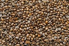 Κλείστε επάνω το υπόβαθρο και τη σύσταση των καφετιών φασολιών καφέ Στοκ εικόνα με δικαίωμα ελεύθερης χρήσης