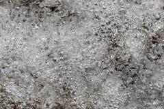 Κλείστε επάνω το υπόβαθρο φύσης πτώσης νερού αεροφυσαλίδων Στοκ Εικόνες
