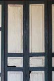 Κλείστε επάνω των αρχαίων ξύλινων πορτών Στοκ εικόνα με δικαίωμα ελεύθερης χρήσης