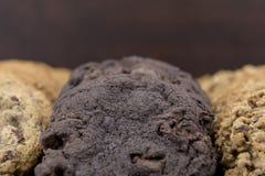 Κλείστε επάνω των διπλών μπισκότων σοκολάτας Στοκ εικόνα με δικαίωμα ελεύθερης χρήσης