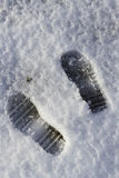 Ίχνη στο χιόνι Στοκ Εικόνα