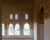Κλείστε επάνω των παλατιών Nasrid, Alhambra Γρανάδα Ισπανία Στοκ φωτογραφίες με δικαίωμα ελεύθερης χρήσης