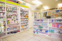 Κλείστε επάνω των ραφιών των φαρμάκων Στοκ εικόνες με δικαίωμα ελεύθερης χρήσης