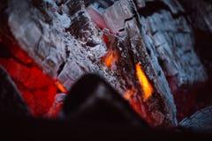 Κλείστε επάνω των φλογών πυρών προσκόπων Στοκ Εικόνες