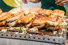Κλείστε επάνω των shucos σάντουιτς τροφίμων οδών από Στοκ Εικόνες