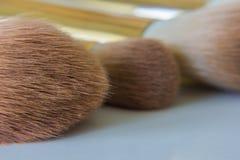 Κλείστε επάνω applicators βουρτσών makeup Στοκ Φωτογραφίες