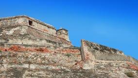 Κλείστε επάνω Castillo SAN Felipe de Barajas είναι ένα φρούριο στην πόλη της Καρχηδόνας Στοκ Φωτογραφίες