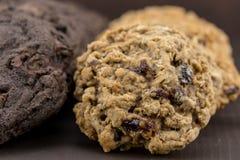 Κλείστε επάνω Oatmeal των μπισκότων σταφίδων Στοκ Φωτογραφίες