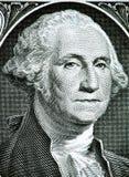 Κλείστε μέχρι το πορτρέτο του George Washington στο λογαριασμό ενός δολαρίου τονισμένος Στοκ Φωτογραφίες