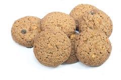 Κλείστε τα επάνω απομονωμένα μπισκότα στο άσπρο υπόβαθρο Στοκ Φωτογραφία
