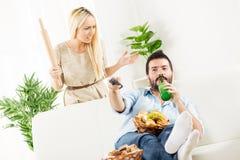 Κλείστε τη σύζυγο, ενάρξεις αντιστοιχιών Στοκ φωτογραφία με δικαίωμα ελεύθερης χρήσης