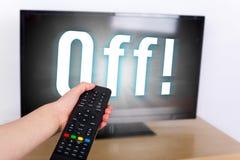 Κλείστε τη TV Στοκ εικόνα με δικαίωμα ελεύθερης χρήσης