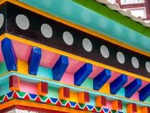 Κλείστε το επάνω-χαρασμένο εξωτερικό του ναού, Νεπάλ Στοκ Φωτογραφία