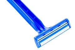 Κλείστε το ξυράφι επάνω ξυρίσματος Στοκ Εικόνες