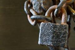 κλείδωμα αλυσίδων Στοκ φωτογραφίες με δικαίωμα ελεύθερης χρήσης