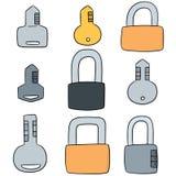 Κλείδωμα και πλήκτρο Στοκ φωτογραφίες με δικαίωμα ελεύθερης χρήσης