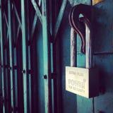 κλείδωμα Στοκ εικόνα με δικαίωμα ελεύθερης χρήσης