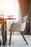 Κλειστή επάνω συμπαθητική να δειπνήσει καρέκλα Στοκ Εικόνες