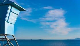Κλειστή καλύβα LIfeguard στην ακτή - έλλειψη θέματος ασφάλειας Στοκ Εικόνα