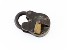 Κλειστή κλειδαριά σιδήρου και ορείχαλκου Στοκ Φωτογραφίες