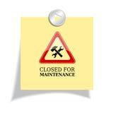 κλειστή συντήρηση απεικόνιση αποθεμάτων