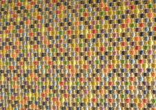Κλειστός επάνω της τετραγωνικής σύστασης του ζωηρόχρωμου σχεδίου ύφανσης Στοκ Εικόνα
