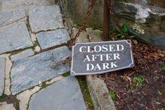 Κλειστός μετά από το σκοτάδι Στοκ Εικόνα
