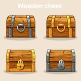 κλειστός στήθος θησαυρός ξύλινος Στοκ φωτογραφίες με δικαίωμα ελεύθερης χρήσης