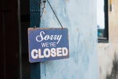 κλειστός τρύγος σημαδιών Στοκ Φωτογραφίες