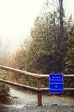 κλειστό ίχνος είσοδος που απαγορεύ&epsilo καμία καταπάτηση Στοκ εικόνα με δικαίωμα ελεύθερης χρήσης