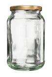 Κλειστό βάζο γυαλιού με το καπάκι στοκ φωτογραφία με δικαίωμα ελεύθερης χρήσης
