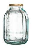 Κλειστό βάζο γυαλιού με το καπάκι στοκ εικόνες με δικαίωμα ελεύθερης χρήσης